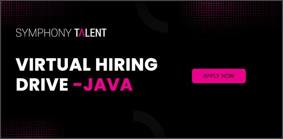 Symphony Talent Virtual Hiring Drive Java